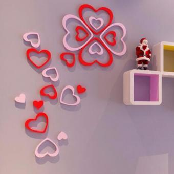 Harga 3D Wall Sticker, Stiker Dinding, Model Hati