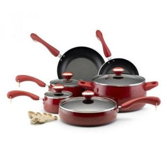Paula Deen Signature Nonstick 15-Piece Porcelain Cookware Set - intl