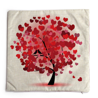 Red Tree Pattern Throw Pillow Sofa Cover Cushion Case Without Pillow Core for Halloween Christmas Gift
