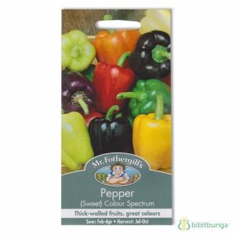 Bibit Bunga Benih Mr Fothergills Paprika Colour Spectrum