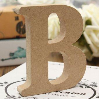 10x1.5cm THICK Wood Wooden 26 Letters Wedding Birthday Party Shop Alphabet Decor B - intl