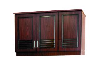 Kirana Kitchen Set Lemari Atas 3 Pintu - UK 913 - Dark Mahogany