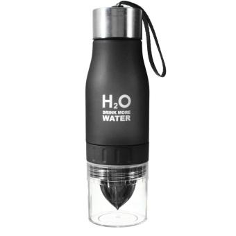 H2O 650ml Sports Lemon Juice Infusing Water Bottle (Black)- intl ...