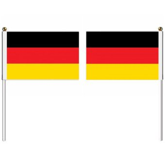 21x14cm Germany hand flag with pole national flag country flag banners indoor outdoor sports events show wedding staged flag pennants Multicolor