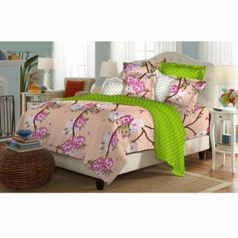 Alona Ellenov Katun Akira Peach Bed Cover Set Katun – Orange
