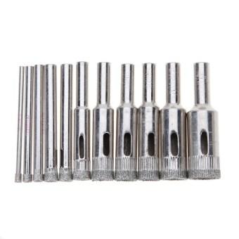 Harga 10 Buah Dilapisi Berlian Inti Lubang Bor Gergaji Sedikit Ditetapkan 3-14 mm