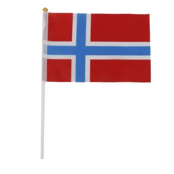 12pcs Hand Waving Norway Flags