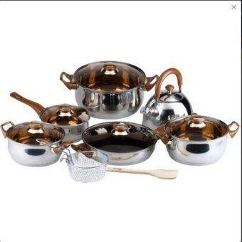 Oxone Panci Classic Cookware Set 12+2 Pcs - OX-966
