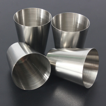 1 Set of 4 Stainless Steel Camping/Travel Cup Mug Drinking Coffee Tea With Case - intl
