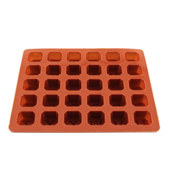 S & F Letter Alphabet Silicone Cake Fondant Ice Mold (Brown)