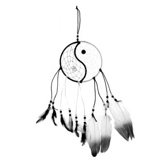 Taiji Dream Catcher with feather wall or car hanging #A decoration ornament