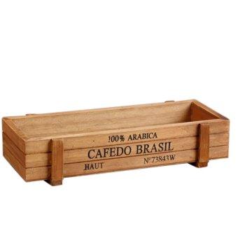 Kotak penyimpanan multifungsi kayu meja Retro untuk tanaman bunga meja Organizer dekorasi rumah