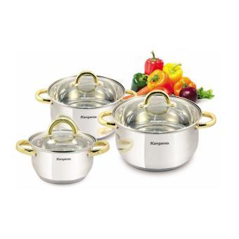 Harga Kangaroo Cookware Kg 864 Set Panci 3 Set .