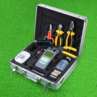 CRUISER 24 In 1 Fiber Optic FTTH Tool Kit FC-6S Fiber Cleaver Optical Power Meter 10Mw Visual Fault Locator