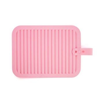 PAlight 2pcs Silicone Pot Holder Heat Insulation Pad (Pink+Yellow)
