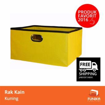 Harga FUNIKA Rak Kain Serbaguna 13162 YL - Set of 5 - Kuning