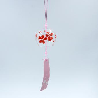 BolehDeals Lonceng Angin Kaca Dekorasi Lonceng Hiasan Gantung Sakura Pola Bunga Ceri