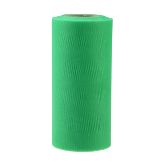 HAOFEI Colorful Tissue Tulle Paper Roll Spool Craft Wedding Party DecorDark Green