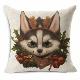 Thick Cotton Linen 45*45cm Decorative Cushion Cover Throw PillowCar Sofa Case Lovely Star Cat People 6 Fashion High Quality - Intl