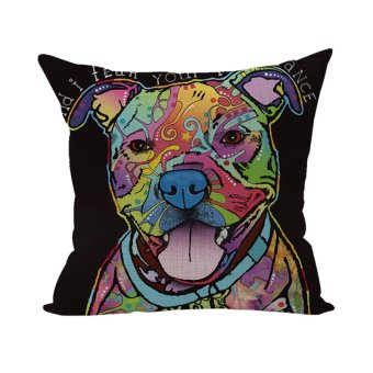Colorful Animal Pillow Case Throw Pillow Cases Cushion Cover Home D??cor Dog 21