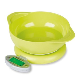 kobwa Digital Kitchen Scale Food Scale For Cooking Baking Multifunction With Removable Bowl LCD Display (Batteries Included), ABS, Green - intl