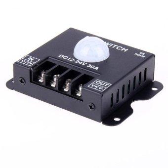 DC 12V 24V 30A Lamp Bulb Strip Driver Single Color Light LED Dimmer Control - intl