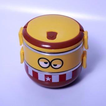Harga Ronaco Lunch Box Rantang Susun Stainless Steel Rantang 2 Susun - Coklat