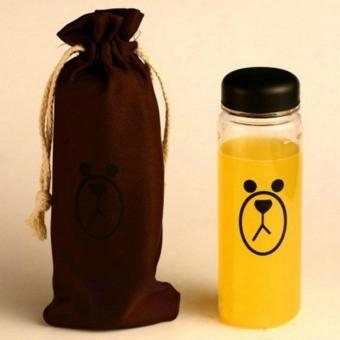 Botol Minum Plastik Karakter Line Sally & Brown 500ml - Brown
