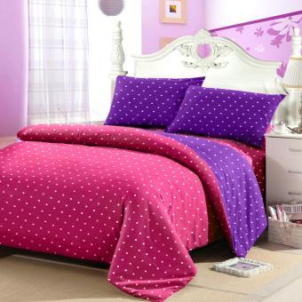 Jaxine Sprei Tinggi 30cm Motif Polkadot Warna Pink Purple