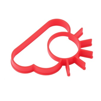 OH Silicone Cute Sun & Cloud Fried Egg Shaper Eggs Mould for Cooking Breakfast