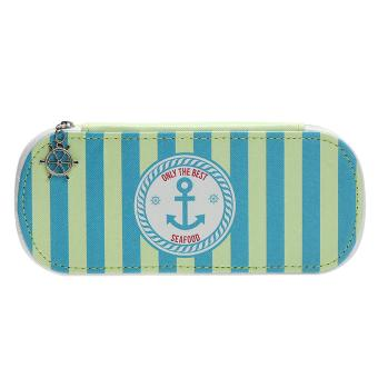 Navy Style Pencil Case Box Student Pen Pencil Container Bag (Green) - intl