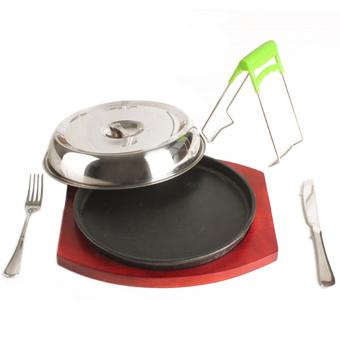 Cast Iron Plate Grilled Fillet Steak boutique rosewood suit 26cm - intl