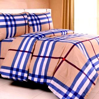 Jaxine Burberry Klasik Sprei With Bed Cover Katun - Coklat