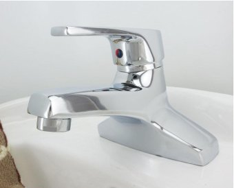 high qualityModern bathroom basin faucet, copper and ceramic, hot and cold water mixing valve faucet, single handle double hole hotel bathroom sink faucet (chrome) - intl