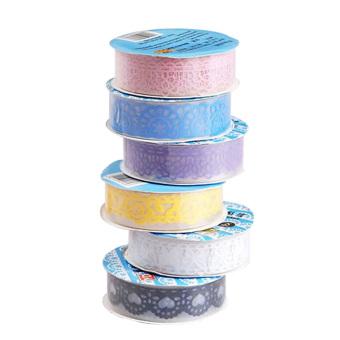 10 PCS Decorative Lace Roll Washi Sticky Paper Masking Adhesive Tape Crafts
