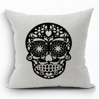 Yazilind printing Skull pattern decorative pillowcase room sofa home 45*45CM/17.55*17.55 inch