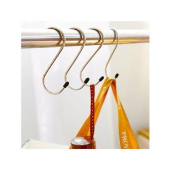 Harga Gantungan Barang Serbaguna Stainless Hook Bentuk S (4pcs/set) HARGA PER 2