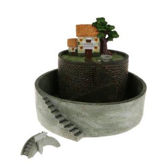 BolehDeals Sky Garden Flower Pot Sukulen Sedum Penanam Bonsai Tanaman Tambahan Melalui Kotak