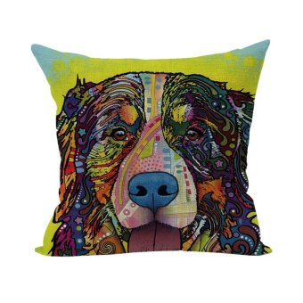 Colorful Animal Pillow Case Throw Pillow Cases Cushion Cover Home D??cor Dog 10
