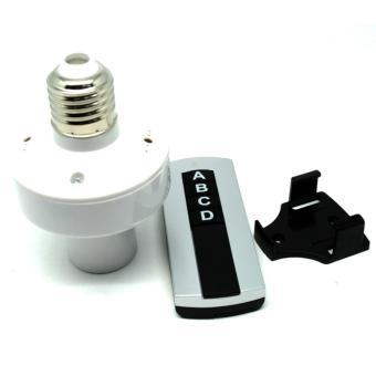 Socket Bohlam E27 220V dengan Remot Kontrol