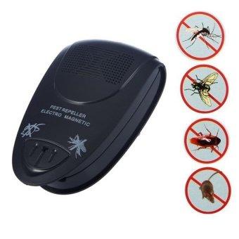 Universal Ultrasonic Electromagnetic Rat Pest Control Repeller - Hitam