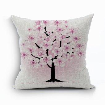 Yazilind beautiful Plum flower pattern decorative pink pillowcase room sofa home 45*45CM/17.55*17.55 inch