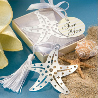 Wedding Favors Starfish Bookmark with Tassels