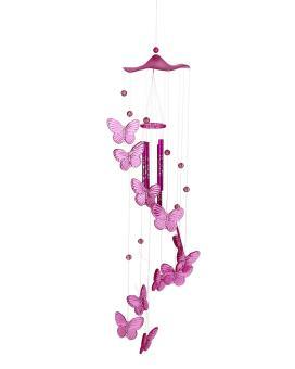 moob Handmade Butterfly Mobile Wind Chime Bell Aeolian Bells Garden Ornament Lucky Gift,Pink