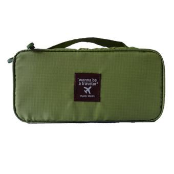 Korean Travel Multifunctional Underwear Storage Bag (Green)