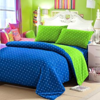 ... Sprei Polos Katun Prada 180x200x20 Biru Tua Source jaxine bedcover set katun polkadot biru