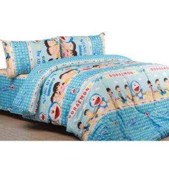 Bedcover Set Jaxine Katun Motif Doraemon Stand By Me