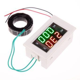 AC 500V 100A Digital Voltmeter Ammeter Amp Volt Meter +CT Shunt (White)