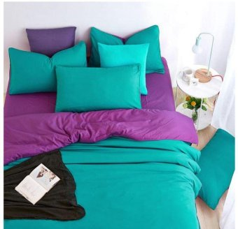 Ideal Bed Sheet Set Microfiber Bedding Comfortable, Breathable and Soft 3 or 4 Pcs (Turquoise) - intl