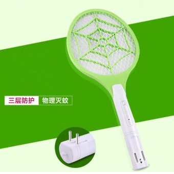 High Quality Electric Insect Pest Bug Fly Mosquito Zapper Swatter Killer Racket Rechargeable - intl